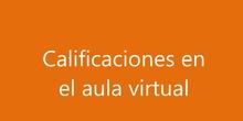 Calificaciones, aula virtual