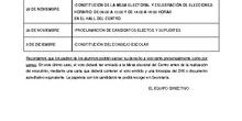 CALENDARIO ELECCIONES DEL CONSEJO ESCOLAR