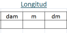 TABLA DE MEDIDAS DE LONGITUD
