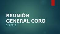 reunion general coro