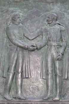 Relieve del Libertador Simón Bolívar y el General realista Pablo