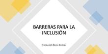 Barreras para la inclusión