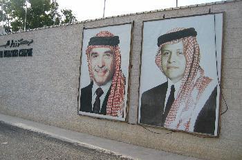 Carteles políticos en la calle, Jordania
