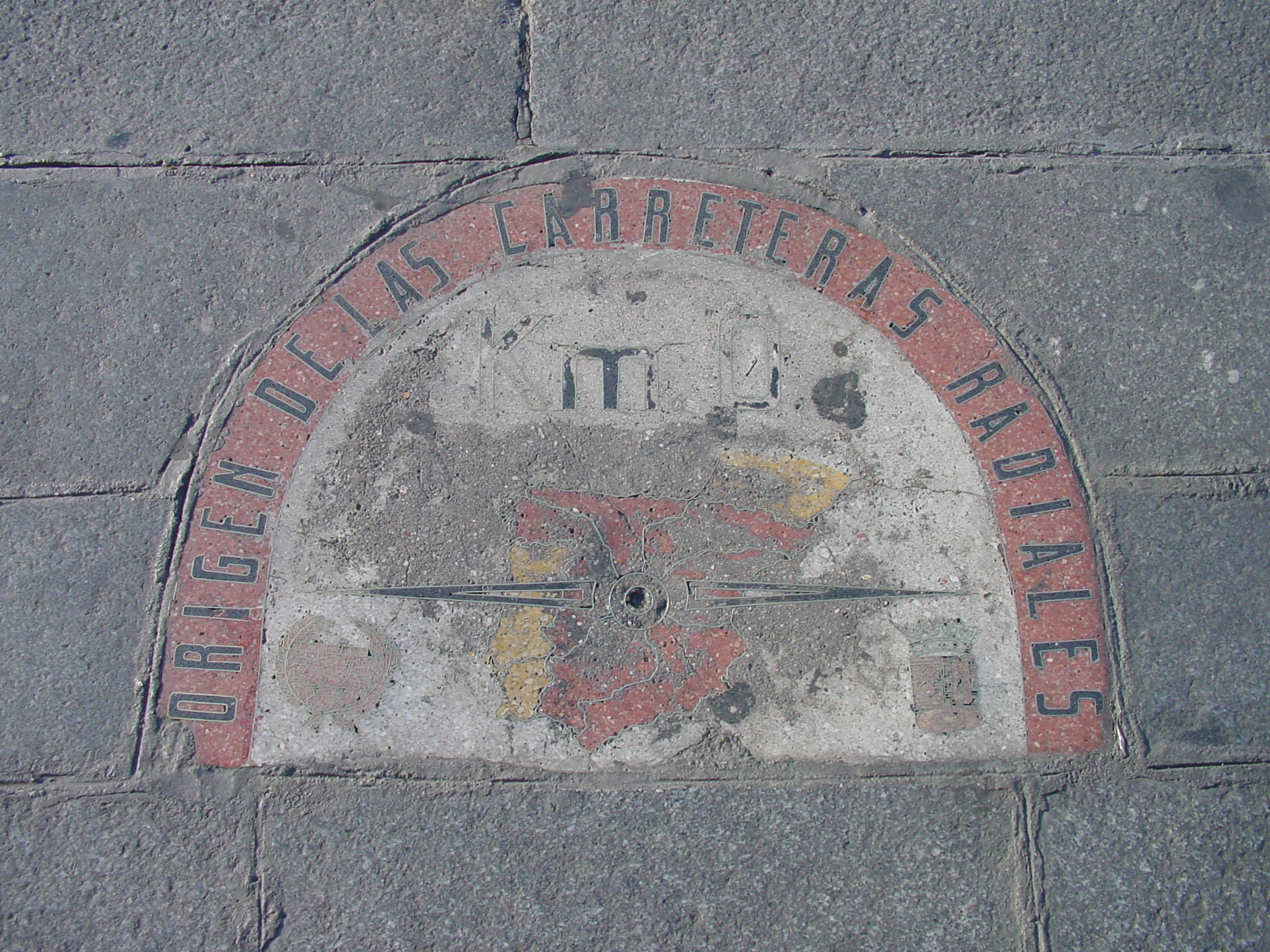 Kilómetro Cero en la Puerta del Sol de Madrid
