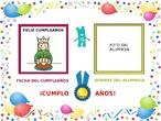 Tarjeta de felicitación de cumpleaños para ACNEEs