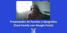 CSS3 - Propiedad fuentes (Family-font y Google Fonts)