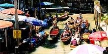 Mercado flotante, Bangkok,Tailandia