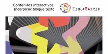 Actvidades interactivas: Bloque Texto