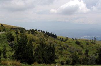 Paisaje del Altiplano Central en Latacunga-Zumbahua, Ecuador