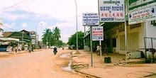 Calles de tierra batida de Siam Reap, Camboya