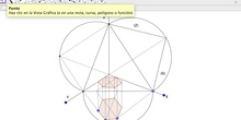 Prisma hexagonal sistema axonometrico