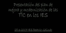 Video montaje: Plan 2007-2009