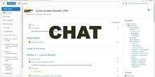 12. Curso Moodle para tiempos de crisis CRA Los Olivos: Chat