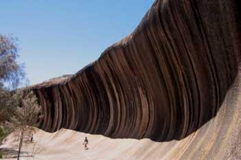 La Roca de la Ola, (Wave Rock), al sur de Perth, Australia