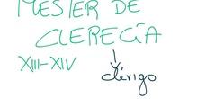 LITERATURA MEDIEVAL IV CLERECÍA