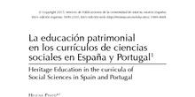 La educación patrimonial en los currículos de ciencias sociales