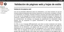 HTML Validación de páginas