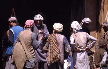 Escena callejera, ante una carnicería, Jammu y Cachemira