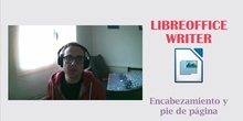 LibreOffice Writer - Cabecera y pie de página