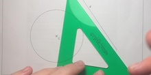 Tangent straight line to the given circumference in a specific direction