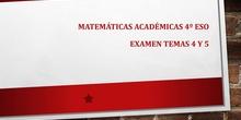 Corrección examen temas 4 y 5