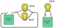 Parallel circuit same voltage