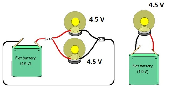 Parallel circuit same voltage