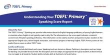Understanding Your TOEFL Primary Speaking Score Report