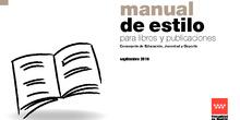 Manual de estilo para libros y publicaciones de la Consejería de Educación, Juventud y Deporte 2016
