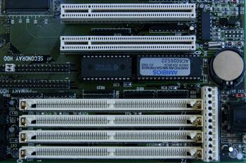 Detalle Zócalo de memoria tipo SIMM (72 contactos)