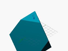 Poliedro limitado por hexágonos y triángulos