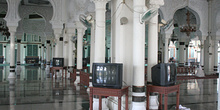 Sala de oración, Mesjid Raya, Banda Ache, Sumatra, Indonesia
