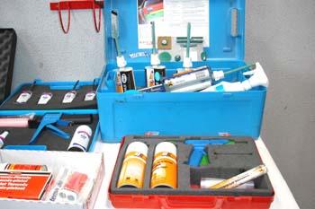 Equipo de productos de reparación y retoque