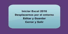 Entorno de Excel 2016