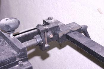 Soporte para la plantilla en un torno de carpintero