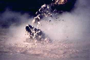 Burbuja de lodo en zona geotermica, Nueva Zelanda