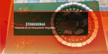 Crómlech de Stonehenge. Maqueta de un monumento megalítico