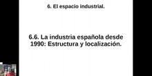 0606 Estructura y localización de la industria española desde 1990.