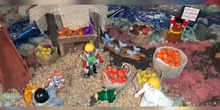 Belén navideño reciclado. Alumnado de Primaria
