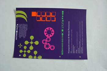 Estampación térmica de películas fluorescentes