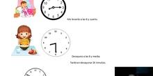 Proyecto matemáticas. La hora