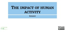 The impact of the human activity