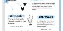 PRIMARIA 6º - LENGUA CASTELLANA Y LITERATURA - SIGLAS ABREVIATURAS Y ACRONIMOS