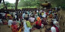 Celebración religiosa, Nacaroa, Mozambique