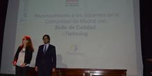 Entrega diplomas II Edición Reconocimiento Sellos de Calidad eTwinning Comunidad de Madrid 1