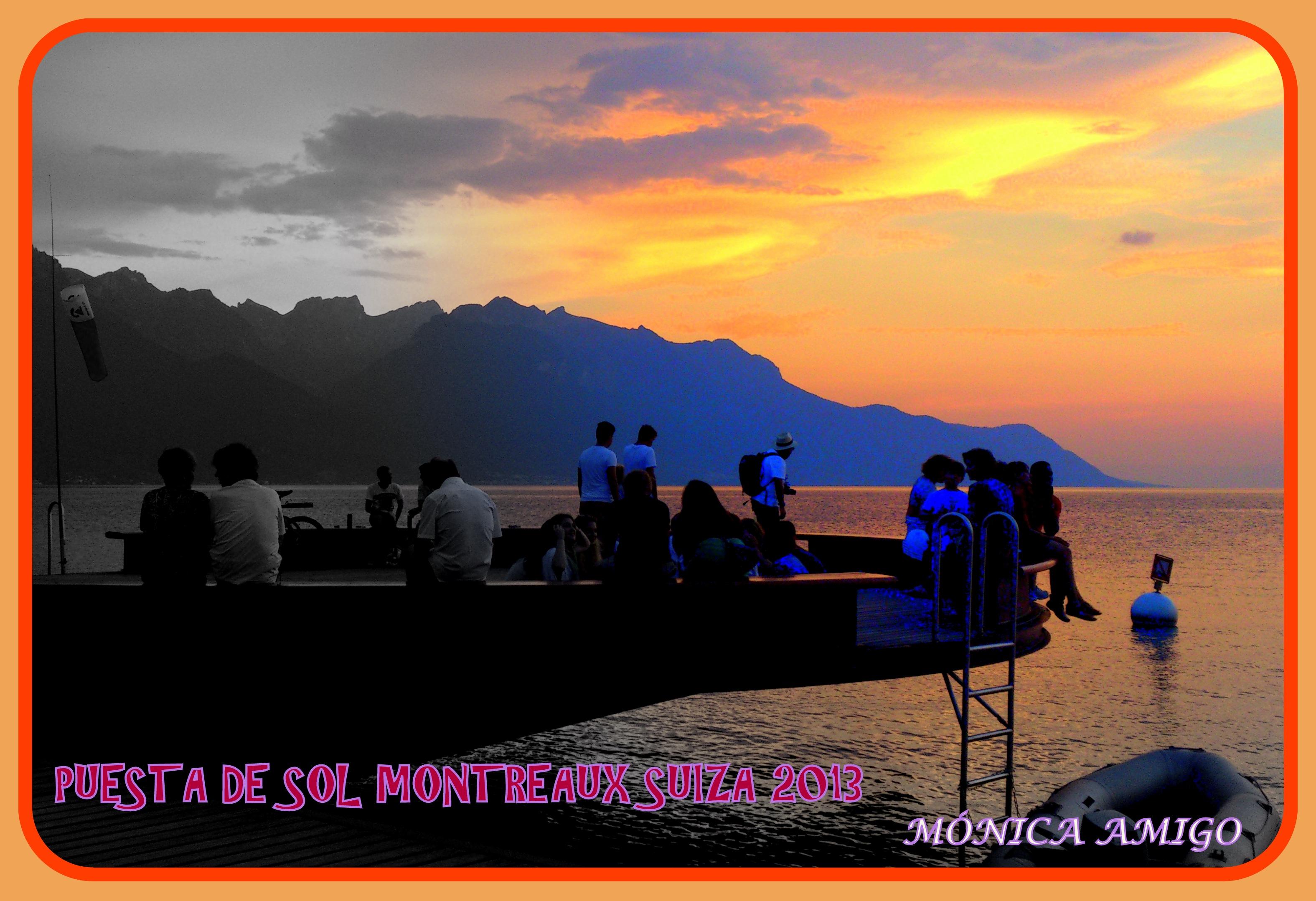 Puesta de sol en Montreaux Suiza 2013