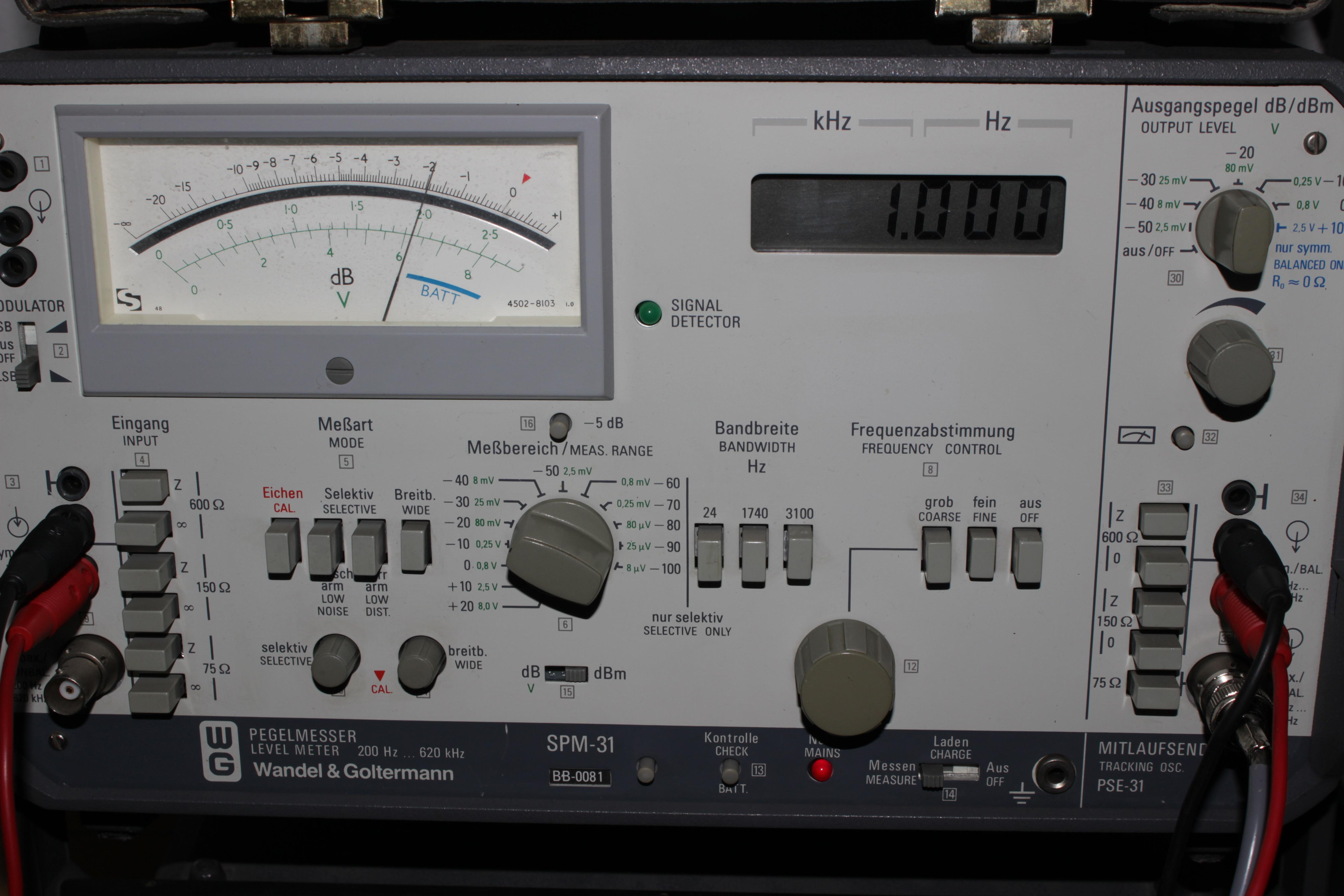 Medidor de nivel de señal en dBm