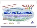 RED DE SABERES 2019  Semana interdisciplinar IES San Nicasio