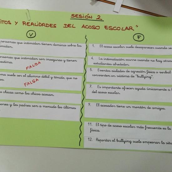 Dinámica de grupo sobre análisis de los mitos y realidades del acoso escolar 1