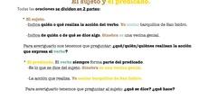 PRIMARIA - LENGUA CASTELLANA Y LITERATURA - LA ORACIÓN